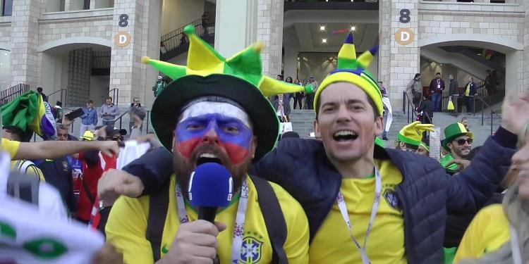 أجواء الجماهير بعد المباراة الافتتاحية للمونديال (فيديو)