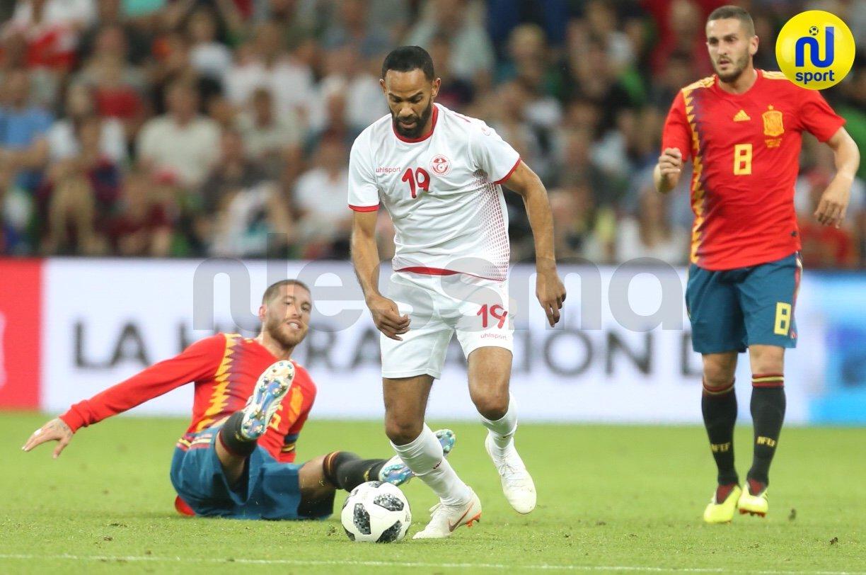 صور الشوط الثاني من مواجهة المنتخب الوطني التونسي ونظيره الاسباني