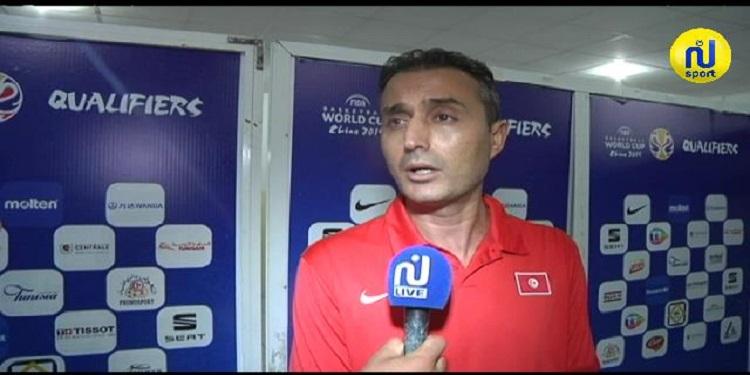 وليد زريوة : '' شرفنا كرة السلة التونسية بتحقيقنا لتسعة إنتصارات خلال التصفيات '' ( فيديو )