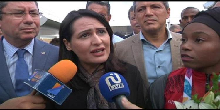 مجدولين الشارني تستقبل الوفد التونسي المشارك في أولمبياد الشباب بالارجنتين