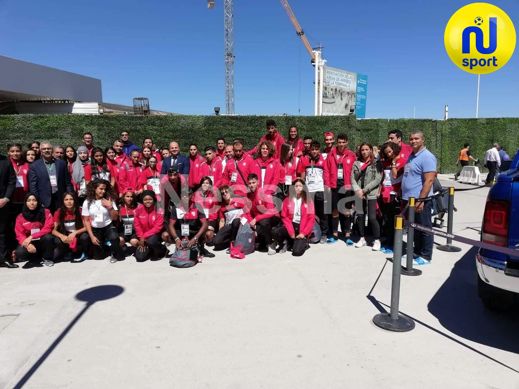 صور خاصة لوصول الوفد التونسي للأرجنتين تحديدا بيونس ايرس للمشاركة في الدورة الثالثة للألعاب الأولمبية للشباب  من 6 إلى 18 أكتوبر 2018