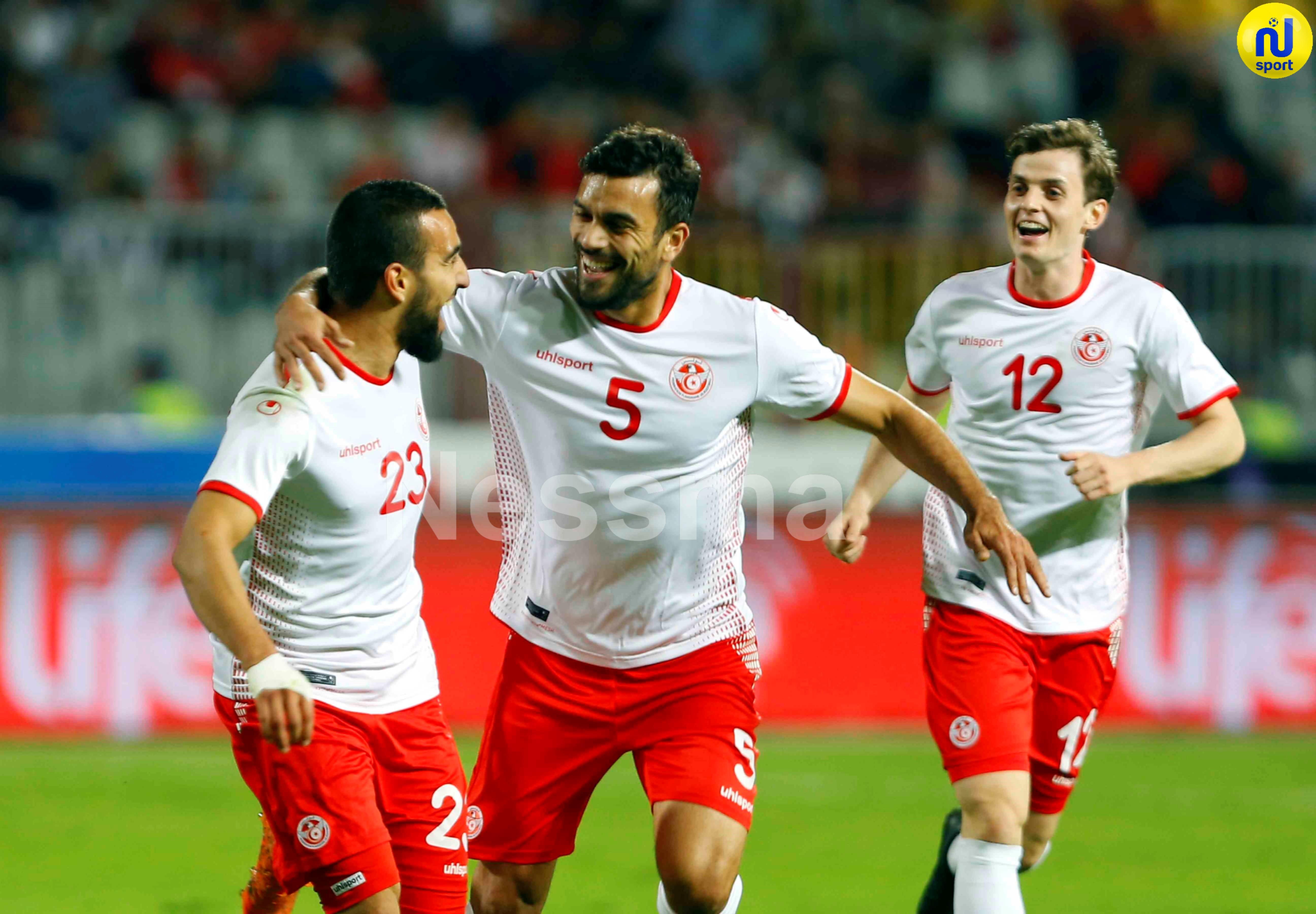 صور الشوط  الأول  لمباراة المنتخب الوطني التونسي و المنتخب المصري