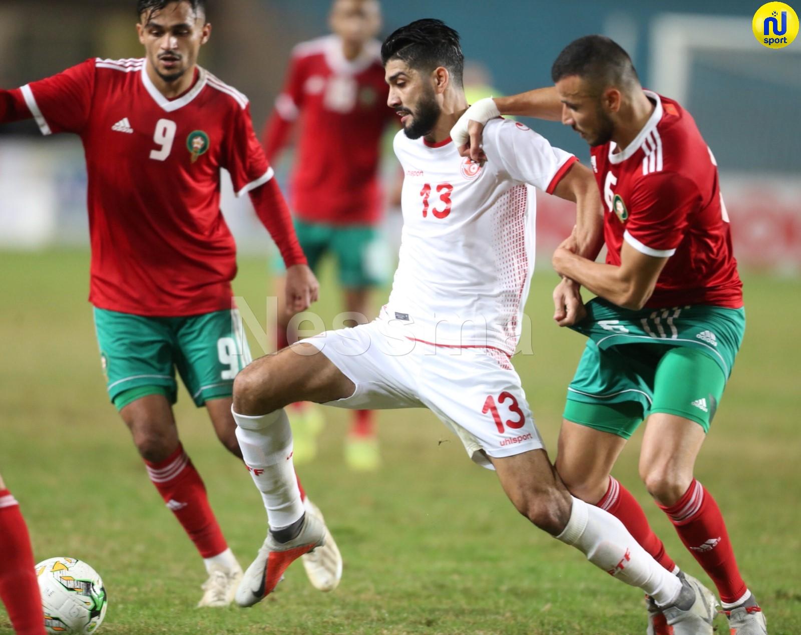 صور الشوط الأول لمباراة المنتخب الوطني التونسي و المنتخب المغربي