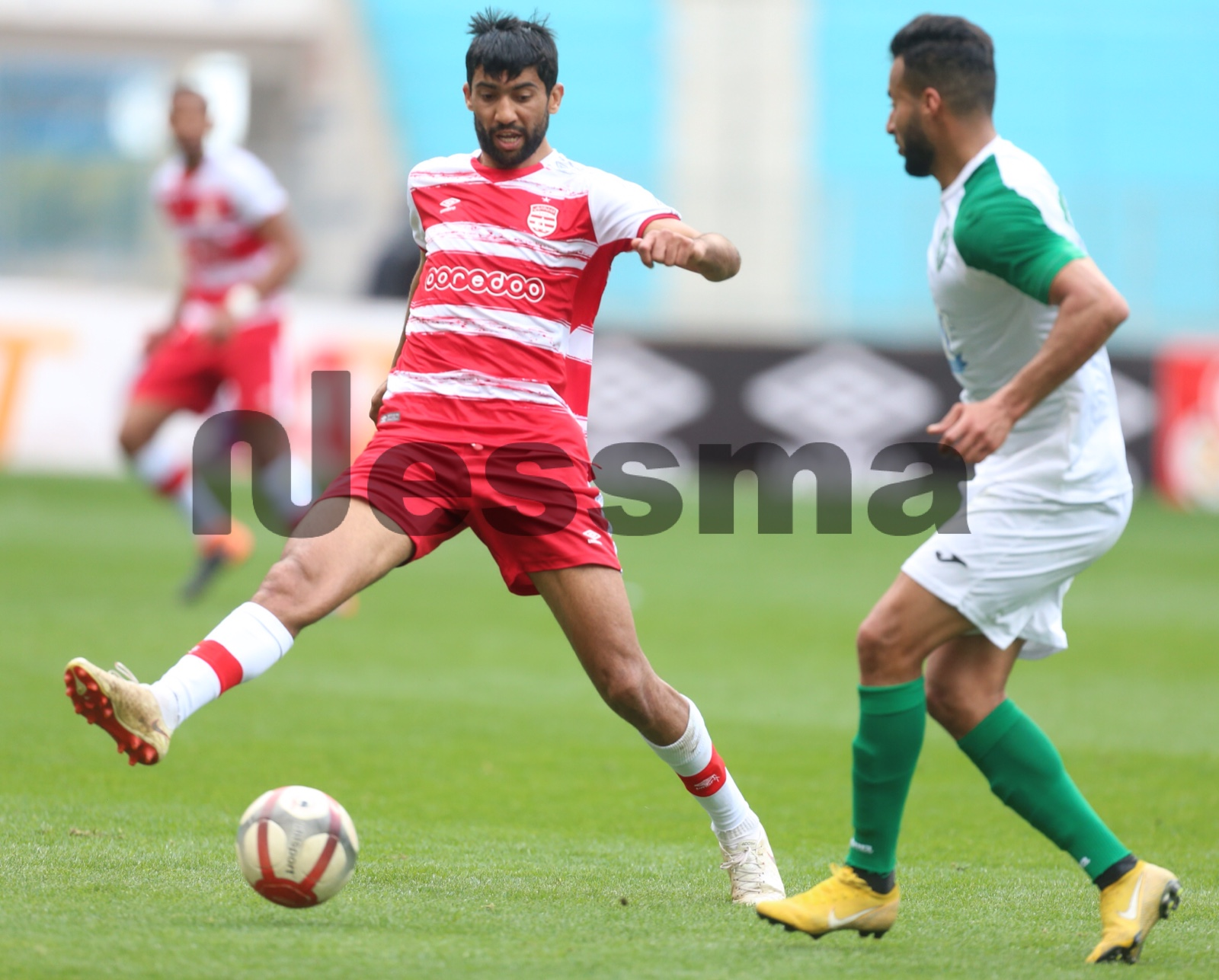 صور الشوط الأول بين النادي الإفريقي والملعب القابسي