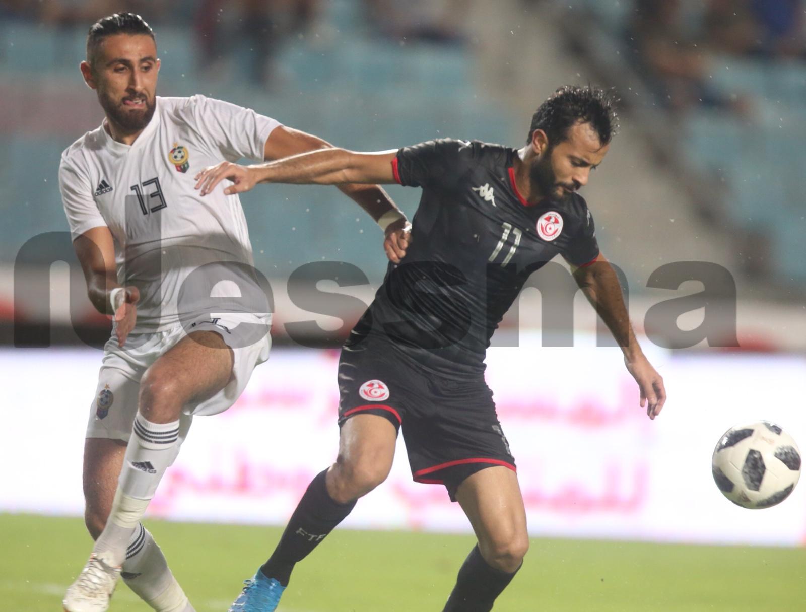 صور الشوط الثاني من مباراة المنتخب التونسي والمنتخب الليبي