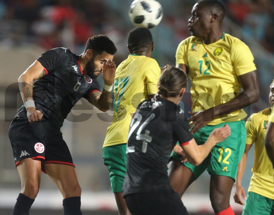 صور الشوط الثاني لمواجهة المنتخب الوطني التونسي ونظيره الكامروني الودية