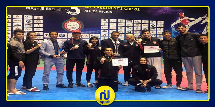 المنتخب الوطني للتايكواندو : ذهبية وأربع برونزيات في بطولة رئيس الإتحاد الدولي