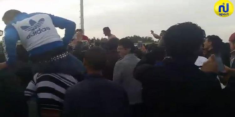 احتفالات أحباء الغزال الرياضي برمادة بالصعود إلى الرابطة الثالثة و تصريحات اللاعبين