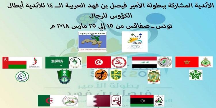 كرة اليد: نتائج قرعة البطولة العربية للأندية