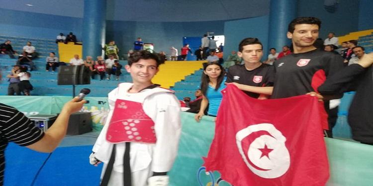 الهادي النفاتي يحرز ميدالية ذهبية في البطولة الإفريقية للتايكواندو