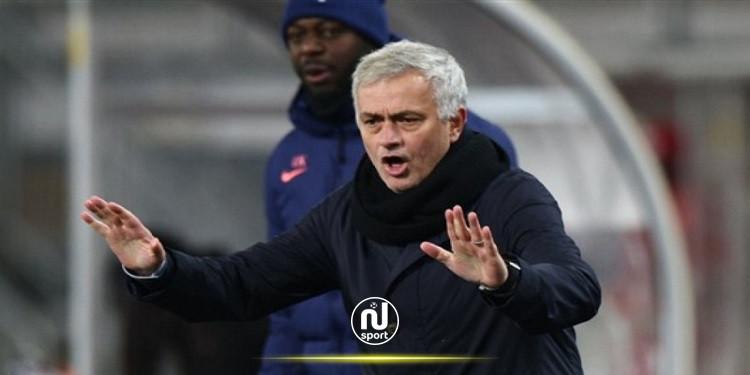 مورينيو يبدي انزعاجه من أداء توتنهام في الدوري الأوروبي