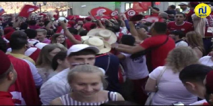 توافد الجماهير التونسية بكثرة قبل مواجهة بلجيكا