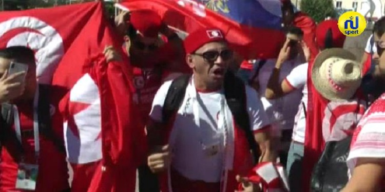 أجواء الجماهير التونسية في فولغوغراد الروسية