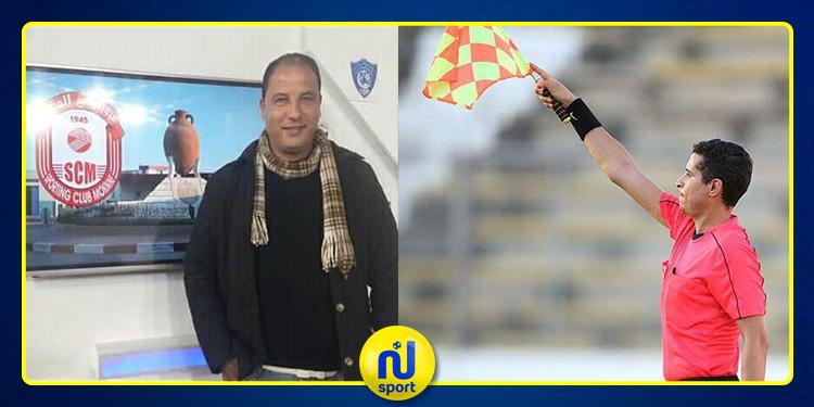 يحدث في الكرة التونسية : لكمة من المدرب ماهر الغربي تسقط الحكم مهدي بالسرور