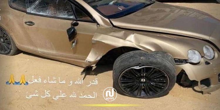 لاعب الأهلي المصري يتعرض لحادث فظيع