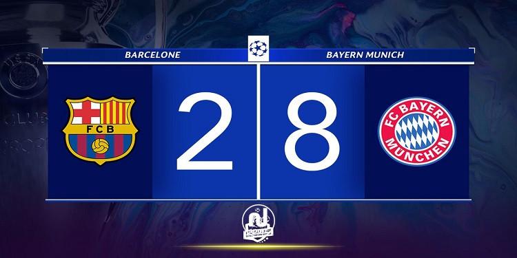 بايرن يتهكم على برشلونة بعد فوزه العريض في كأس ألمانيا