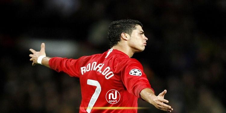 مانشستر يونايتد يعلن أنّ كريستيانو رونالدو سيرتدي القميص رقم 7