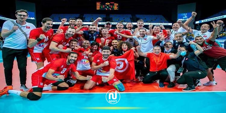 الاتحاد الدولي للكرة الطائرة: المنتخب التونسي يرتقي الى المرتبة 15 عالميا