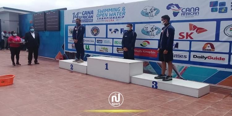 البطولة الافريقية للسباحة: ذهبية ثانية لخليل بن عجمية وبرونزية لبولكباش