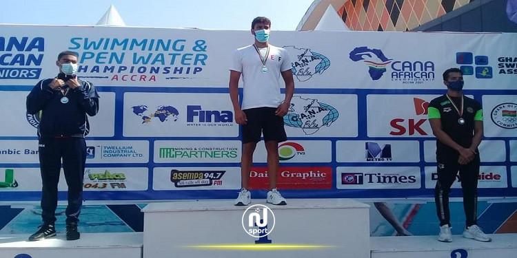 البطولة الافريقية للسباحة: خليل بن عجمية يحرز فضية سباق 3 كلم
