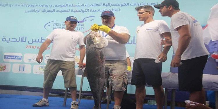 تونس تحرز المركز الثالث في كاس العالم للصيد البحري بالغطس
