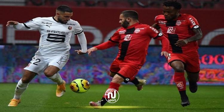 الدوري الفرنسي: رين يبقى بلا هزيمة بعد التعادل مع ديجون