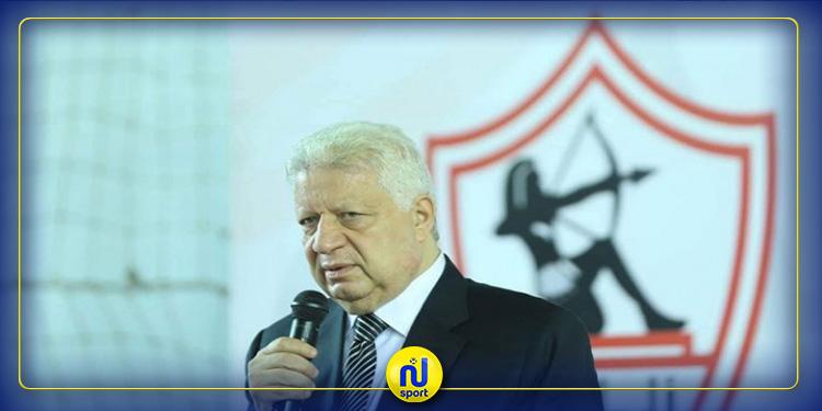 اللجنة الاولمبية المصرية توقف رئيس الزمالك مرتضى منصور