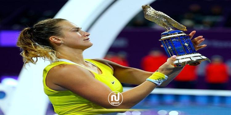 سبالينكا تهزم أزارينكا وتفوز بأول نسخة لبطولة أوسترافا للتنس