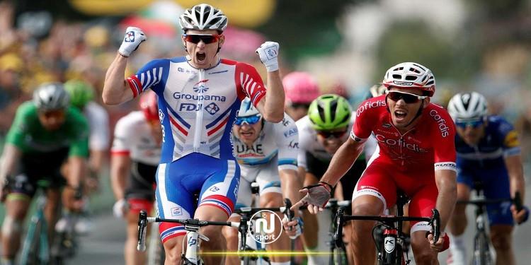 الفرنسي أرنو ديمار يفوز بثالث مرحلة له في سباق إيطاليا للدراجات