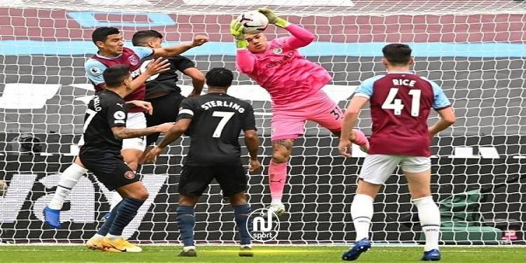 مانشستر سيتي يتعادل خارج ملعبه مع وست هام يونايتد
