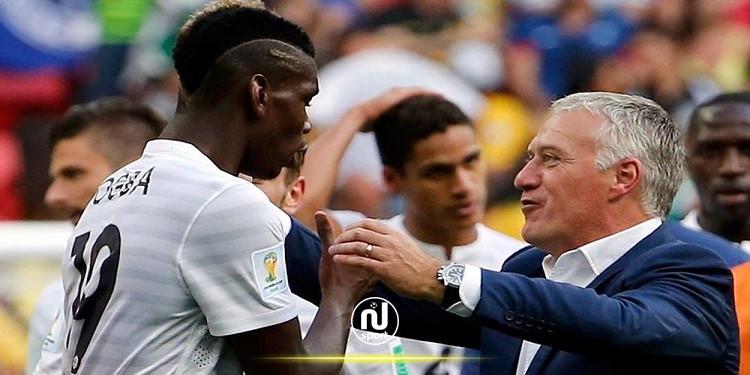 ديشان: بوغبا 'لا يمكنه أن يكون سعيدا' في مانشستر يونايتد حاليا