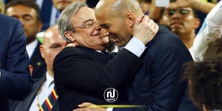 الليغا: زيدان يؤكد مساندة إدارة ريال مدريد واللاعبين له في وجه انتقادات