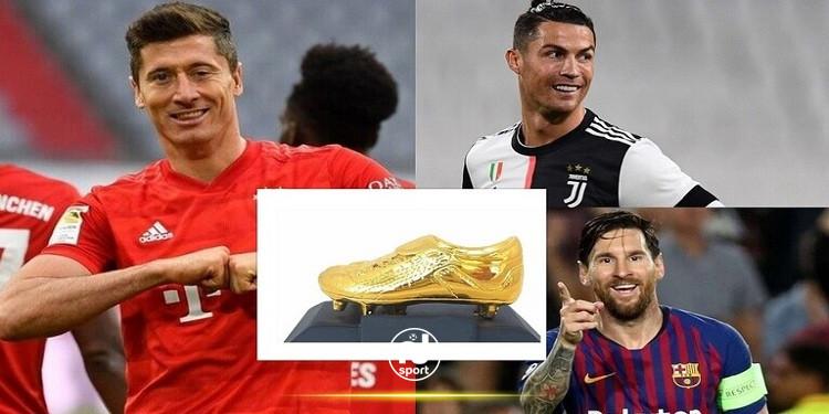 جائزة الحذاء الذهبي الاوروبي: ميسي ورونالدو يهددان عرش ليفاندوفسكي