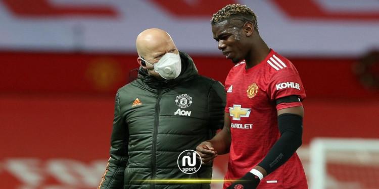 مانشستر يونايتد: غياب بول بوغبا سيستمر لبضعة أسابيع أخرى