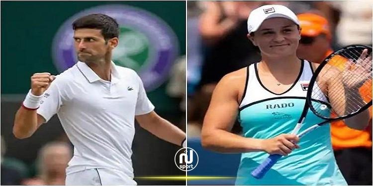 ديوكوفيتش وبارتي يواصلان صدارة التصنيف العالمي للاعبي ولاعبات التنس