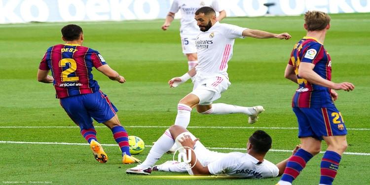 الليغا: بنزيما وكروس يقودان ريال مدريد للإنتصار أمام برشلونة