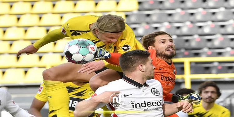 البوندسليغا: اينتراخت يفوز في دورتموند ويعزز آماله في اللعب في دوري الأبطال