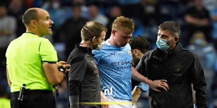 دوري أبطال أوروبا: البلجيكي دي بروين يعاني من كسرين في الوجه