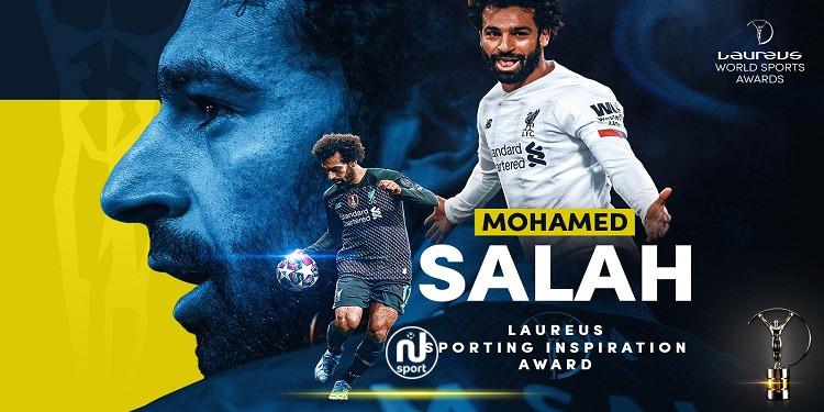 تتويج محمد صلاح بجائزة ''لوريوس'' للإلهام الرياضي