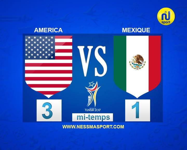 ثمن نهائي مونديال الميني فوت: المنتخب الأمريكي يُنهي الشوط الأول متقدما على المكسيك